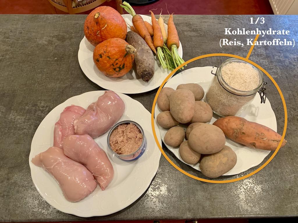 Hundefutter-Rezept-Reis-Kartoffeln